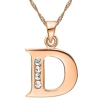 Necklace with pendant in the shape of a letter of the alphabet, for men and women. and base metal, color: Letter D rose gold., cod. Ref. 4058433104907