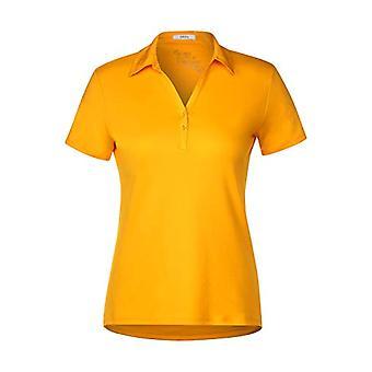 Cecil 313339 Polo T-Shirt, Mango Yellow, Small Woman
