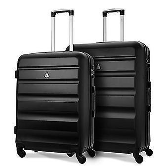 Aerolite hard shell valise valise voyage ensemble avec tsa cadenas (moyenne - grande valise à bagages de soute)