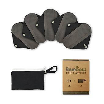 Pack 5 retulisable compresses + toiletry bag   Light flow 5 units