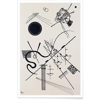 JUNIQE Print -  Kandinsky - Untitled (Drawing 4) - Wassily Kandinsky Poster in Schwarz & Weiß