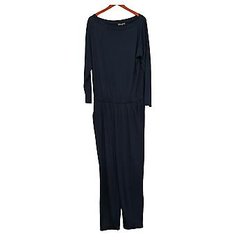 Brittany Humble Jumpsuits Off-Shoulder One-Piece Blue 720036