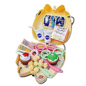 ムービー1セット 16pcs 子供のおもちゃセットキッチンクッキングセット化粧品バッグドクター幼稚園ギフト dt5284
