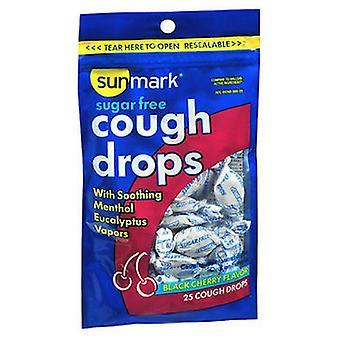 Sunmark Sunmark Sugar Free Cough Drops Black, Cherry Flavor 25 Each