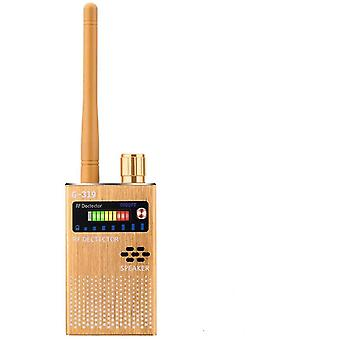 Spiondetektor, Kameradetektor Trådløs RF spiondetektor for skjult kamera, GSM, lytteenhet, radar, frekvensdetektor, GPS-lokator, skanner, trådløs alarm (svart)