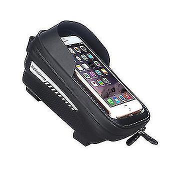 自転車防水電話バッグ、タッチスクリーンマウンテンバイクフロントビームバッグ