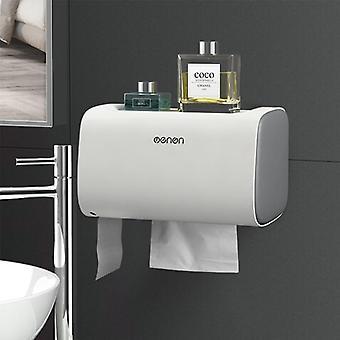 Bathroom Waterproof Toilet Paper Holders Wall Mounted Storage Box (gray)