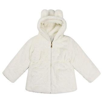 Weiche Prinzessin Mädchen süße Hase Winter Oberbekleidung weiß 90cm