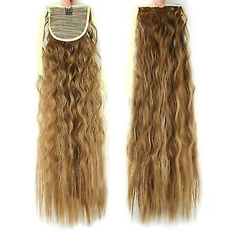 (27) Cabelo grosso enrolar em torno de onda rabo de cavalo clipe peça de cabelo clipe em alça de rabo de cavalo peruca