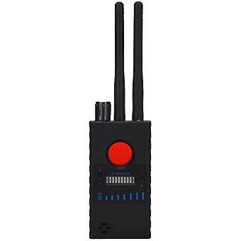 Spion-Detektor, Kameradetektor Wireless RF-Spionagedetektor für versteckte Kamera, GSM, Abhörgerät, Radar, Frequenzdetektor, GPS-Locator, Scanner, drahtloser Alarm (schwarz)