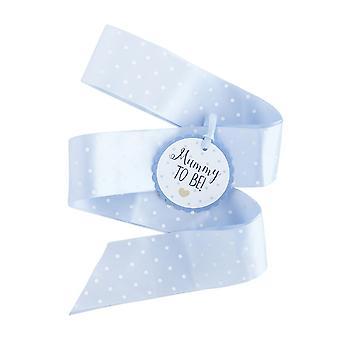 blå baby dusj sash   Mumie å være gutt dekorasjoner