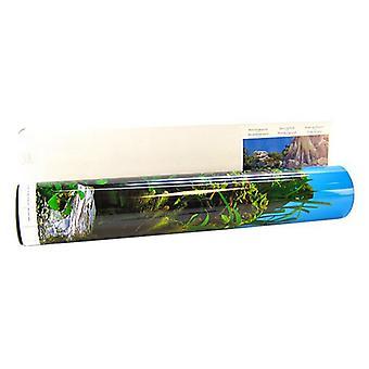 "Blue Ribbon Freshwater Rock & Tree Trunks Double Sided Aquarium Background - 50' Long x 19"" High"