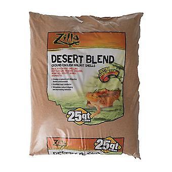 Zilla Desert Blend Ground English Walnut Shells Reptile Bedding - 25 Quarts