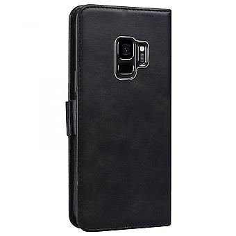 Case For Samsung Galaxy S9 Wallet Flip Pu Leather Cover Card Holder Coque Etui - Black Cat