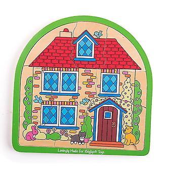 Wooden pegged puzzles house arched puzzle