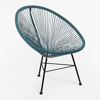 SKLUM Acapulco stoelenset van 2 Polyethyleen - staal BLAUW – PACIFIC