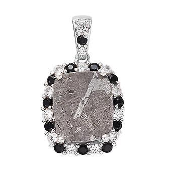 TJC Halo Anhänger für Frauen in Silber Meteorit, Spinell und Zirkon, 10.07ct