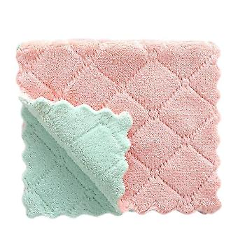 20 Piece set of super absorbent multifunctional soft micro fibre kitchen dish towels(Pink Green)