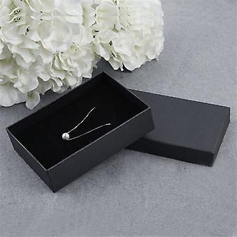 6 db sötét csíkos díszdoboz csomagolás Díszdoboz nyaklánc fülbevalóhoz