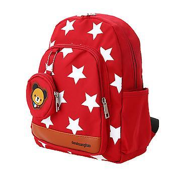 Barn skolväskor Canvas Söt stjärna mönster reseryggsäck