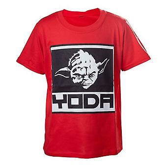 Star Wars Kids garçons Yoda encadré Closeup T-Shirt 122/128 rouge TSY19614STW-122/128