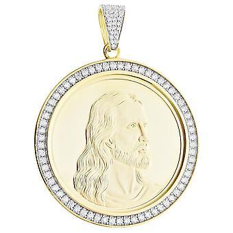 Premium bling - sterling silver communion Medallion pendant