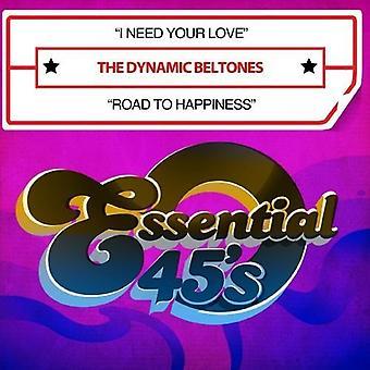 動的 Beltones - 私は必要がありますあなたの愛/への道幸福 [CD] USA 輸入
