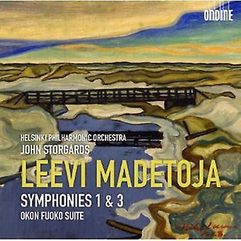 L. Madetoja - Leevi Madetoja: Symphonies 1 & 3; Okon Fuoko Suite [CD] USA import