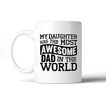 The Most Awesome Dad 11oz Ceramic Mug Dishwasher Microwave Safe