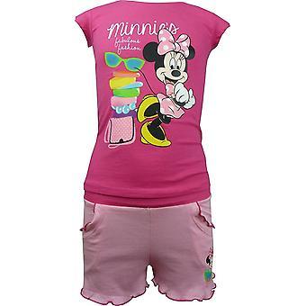Set niñas Disney Minnie Mouse verano camiseta y pantalones cortos