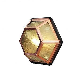 كونستسميدي الخروع العنبر & النحاس هياكساجون السقف الزجاجي أو جدار الضوء