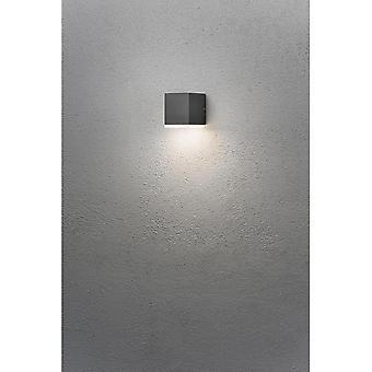 Konstsmide Monza Grey Block LED Wall Light Down Light