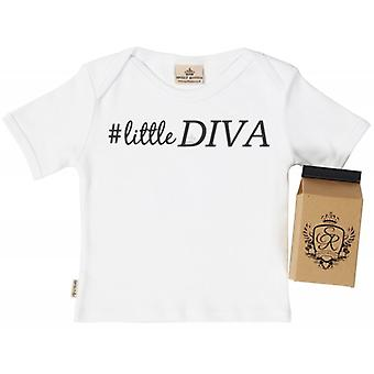 Spoilt Rotten Little Diva Babys T-Shirt 100% Organic In Milk Carton
