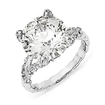 925 plata esterlina elegante CZ cubic Zirconia simulado diamante anillo joyería regalos para las mujeres - tamaño del anillo: 6 a 8