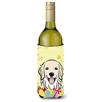 Golden Retriever Easter Egg Hunt Wine Bottle beverage Insulator Hugger