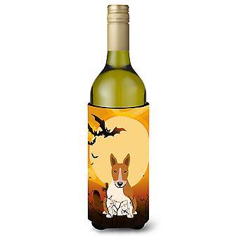 Halloween Bull Terrier Red White Wine Bottle Beverge Insulator Hugger