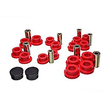 Energy Suspension 11.3111R Control Arm Bushing Set Red Front Performance Polyurethane Control Arm Bushing Set
