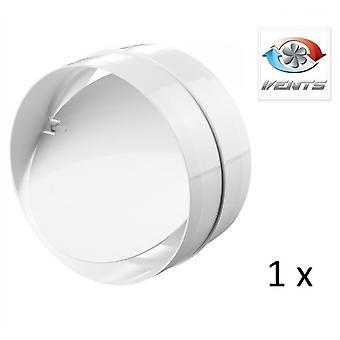 Backdraft Shutter / Coupler - For Ducting - (1 Pack) Fans - 100mm 4'' Round PVC - Vent - Back Draft