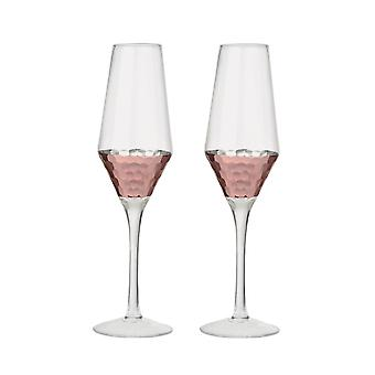 Artland Set of 2 Coppertino Flute Glasses