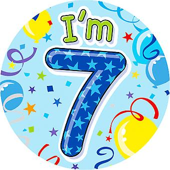 Expression Factory Childrens Boys I Am 7 Today Giant Badge