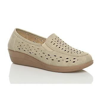 Ajvani kvinners kile arbeid flatt fleksibel komfort loafers tøfler sko