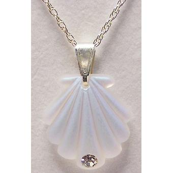 Aurora Borealis kleine Shell Anhänger Crystal