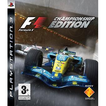 Formula One Championship Edition (PS3) - New