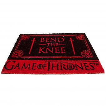 Spelet av troner dörrmatta böja knä