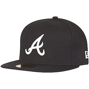 Ny era 59Fifty utrustat Cap - Atlanta Braves svart / vit