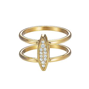 ESPRIT women's ring rostfritt stål guld cubic zirconia exklusiva ESRG12856B