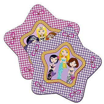 Party plate plate plate glamour girl Kids party birthday star plates 8 PCs