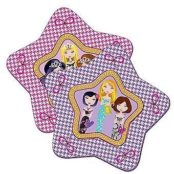 Stella di compleanno festa di partito piastra piastra piastra glamour ragazza bambini piastre 8 pz
