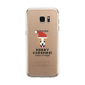 Merry Corgmas Corgi Clear Phone Case