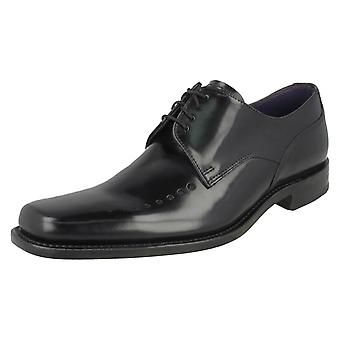 Mens Loake Smart poli cuir Lace Up chaussures Poseidon